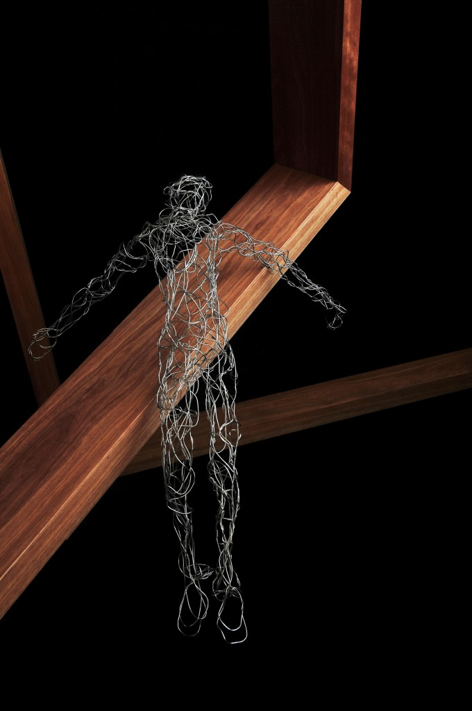 Laying Man Wire Sculpture
